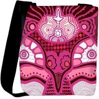 Snoogg Pink Pattern Designer Womens Carry Around Cross Body Tote Handbag Sling Bags RPC-10412-SLTOBAG