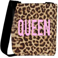 Snoogg Queen Leopard Print Designer Protective Back Case Cover For Oneplus 3 Designer Womens Carry Around Cross Body Tote Handbag Sling Bags RPC-3537-SLTOBAG