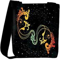 Snoogg Creative Artwork With Shiny Background Designer Womens Carry Around Cross Body Tote Handbag Sling Bags RPC-4219-SLTOBAG