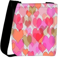 Snoogg Multiple Hearts Designer Womens Carry Around Cross Body Tote Handbag Sling Bags RPC-10248-SLTOBAG