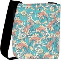 Snoogg Water Fish Designer Womens Carry Around Cross Body Tote Handbag Sling Bags RPC-10255-SLTOBAG