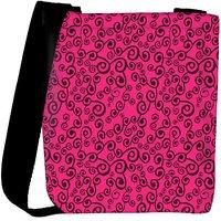 Snoogg Pink Pattern Designer Womens Carry Around Cross Body Tote Handbag Sling Bags RPC-10256-SLTOBAG