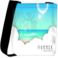 Snoogg Abstract Summer Background Designer Protective Back Case Cover For Oneplus 3 Designer Womens Carry Around Cross Body Tote Handbag Sling Bags RPC-3828-SLTOBAG