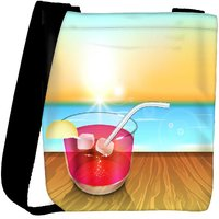Snoogg Abstract Summer Background Designer Protective Back Case Cover For Oneplus 3 Designer Womens Carry Around Cross Body Tote Handbag Sling Bags RPC-3845-SLTOBAG