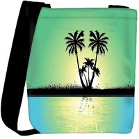 Snoogg Abstract Tropical Background Designer Protective Back Case Cover For Oneplus 3 Designer Womens Carry Around Cross Body Tote Handbag Sling Bags RPC-3859-SLTOBAG