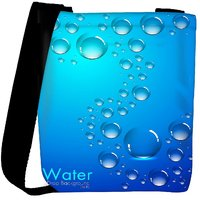Snoogg Abstract Water Drops Background And Space For Your Text Designer Protective Back Case Cover For Oneplus 3 Designer Womens Carry Around Cross Body Tote Handbag Sling Bags RPC-3867-SLTOBAG