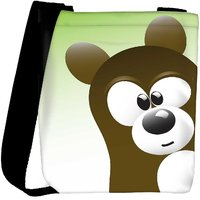 Snoogg Cute Bear Character Designer Protective Back Case Cover For Oneplus 3 Designer Womens Carry Around Cross Body Tote Handbag Sling Bags RPC-4240-SLTOBAG