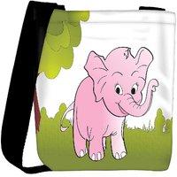 Snoogg Cute Big Elephant Background Designer Womens Carry Around Cross Body Tote Handbag Sling Bags RPC-4241-SLTOBAG