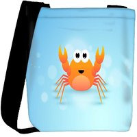 Snoogg Cute Cartoon Of Crab Designer Protective Back Case Cover For Oneplus 3 Designer Womens Carry Around Cross Body Tote Handbag Sling Bags RPC-4246-SLTOBAG