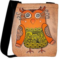 Snoogg Cute Owl On Real Cardboard Background Lacy Bird On Paper Designer Protective Back Case Cover For Oneplus 3 Designer Womens Carry Around Cross Body Tote Handbag Sling Bags RPC-4255-SLTOBAG