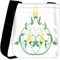 Snoogg Decorative Flourish Frame Designer Protective Back Case Cover For Oneplus 3 Designer Womens Carry Around Cross Body Tote Handbag Sling Bags RPC-4273-SLTOBAG