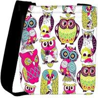 Snoogg Eamless Owl Pattern Designer Protective Back Case Cover For Oneplus 3 Designer Womens Carry Around Cross Body Tote Handbag Sling Bags RPC-4326-SLTOBAG