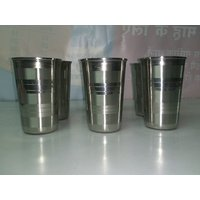 6 Pc Stainless Steel Glass Set