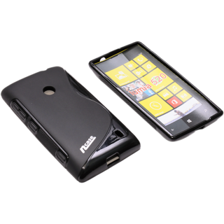 ncase PFBC-8562BK Back Cover / Case for NOKIA 520 (BLACK) Fashion Back Cover with grip on both sides of cover