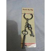 Lock Shape With Key -Key Chain