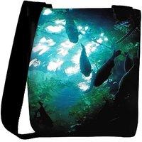 Snoogg Aquarium Fishes Designer Womens Carry Around Cross Body Tote Handbag Sling Bags RPC-3912-SLTOBAG