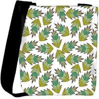 Snoogg A Seamless Leaf Pattern Designer Womens Carry Around Cross Body Tote Handbag Sling Bags RPC-3914-SLTOBAG
