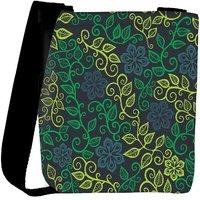 Snoogg A Seamless Leaf Pattern Designer Womens Carry Around Cross Body Tote Handbag Sling Bags RPC-3915-SLTOBAG