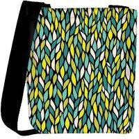 Snoogg A Seamless Leaf Pattern Designer Womens Carry Around Cross Body Tote Handbag Sling Bags RPC-3916-SLTOBAG
