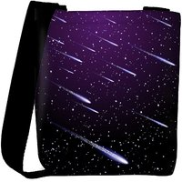 Snoogg Background With Meteor Shower Designer Protective Back Case Cover For Oneplus 3 Designer Womens Carry Around Cross Body Tote Handbag Sling Bags RPC-3952-SLTOBAG
