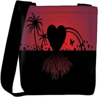 Snoogg Beach Scene And Love With Its Roots Designer Protective Back Case Cover For Oneplus 3 Designer Womens Carry Around Cross Body Tote Handbag Sling Bags RPC-3971-SLTOBAG