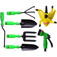 Visko 610 7 Pc Garden Tool Kit With Sprinkler And Spray Gun