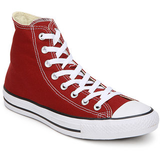 Converse Mens High Top Red Canvas Sneakers