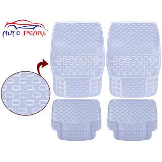 Auto Pearl - Premium Quality Heavy Duty Transparent 4Pc Pvc Rubber 93043 Clear Car Mat For - Maruti Suzuki Gypsi