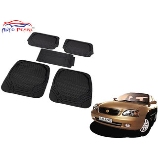 Auto Pearl - Premium Luxurious Quality Heavy Duty Light Weight Black 5Pc Pvc Rubber 8855Tw Car Mat For - Maruti Suzuki Baleno