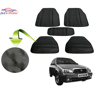 Auto Pearl - Premium Quality Ultra Thin Heavy Duty Car Floor Lamination Black PVC Carpet  - Maruti Suzuki Esteem