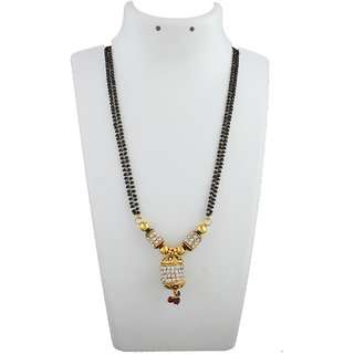 Anuradha Art Golden Colour Classy Designer Classy Mina Work Designer Mangalsutra Set For Women