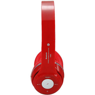 S460 Wireless Bluetooth Headphone Over the ear With Mic Color red