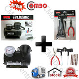 Hottest Deal Coido 6526 Tyre Air  Inflator + Coido 6081 Tyre Repair Kit