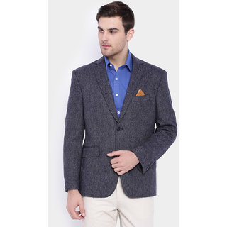 SUITLTD Dark Grey Herringbone Regular fit Jacket