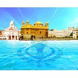 Affordable Art India Canvas Art Of Golden Temple Canvas Painting AEGT1a