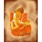 Affordable Art India Canvas Art Of Lord Ganesha AELG1a