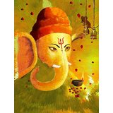 Affordable Art India Canvas Art Of Lord Ganesha AELG2b