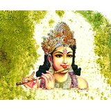 Affordable Art India Canvas Art Of Lord Krishna Canvas Painting AELK3a