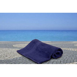 Navy Blue Bliss Low Twist Bath Towel Bath Towel