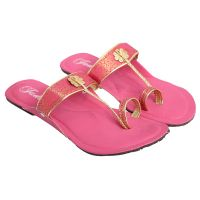 Jade Womens Stylish Pink Flats