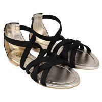 Jade Womens Stylish  Black Zip Sandals - 98060746