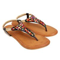Jade Womens Stylish  Black Slip On Sandals