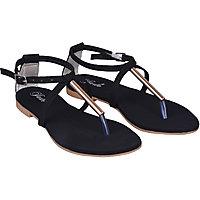 Jade Womens Stylish  Black Buckle Sandals