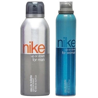 Nike Up or Down Deodorant for Men Women 200ml Each (Pack of 2)