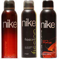 Nike Deodorants Extreme Fission On fire for men 200ml Each (Pack of 3)