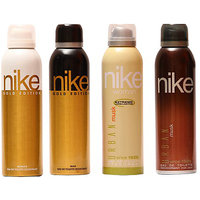 Nike Deodorants Gold Edition For Men  Women And Urban Musk For Men  Women 200ml Each (Pack Of 4)