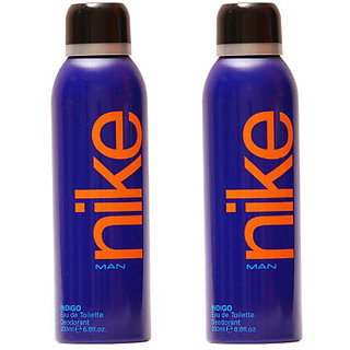 Nike Deodorants 2 Indigo for Men 200ml Each (Pack of 2)