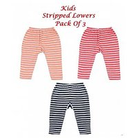 Kids Cotton  Stripped Lowers-( Pack Of 3)