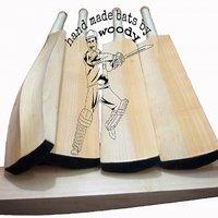 WOODY HAND MADE ENGLISH WILLOW (NURTURED IN INDIA) TOP GRADE CRICKET BAT PLAIN.