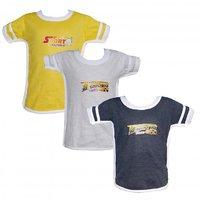 JF Boys Combo of 3 Assorted Half Sleeve Tshirt
